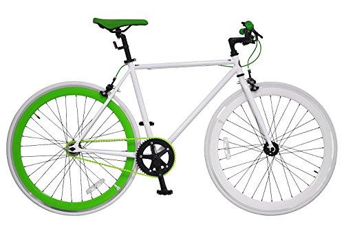 ANIMATO(アニマート) ピストバイク 700C PISTO (700C ピスト) ホワイト×グリーン シングルスピード A-12
