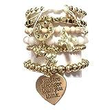 CAT HAMMILL (キャットハミル) heart bracelet set バニラカラー ゴールドブレスレットセット