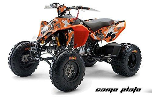 AMR Racing KTM 450, 525 and 505 ATV Quad, Graphic Kit - Camoplate: Orange (Ktm 525 Quad compare prices)