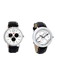 Gledati Men's White Dial And Foster's Women's White Dial Analog Watch Combo_ADCOMB0001872