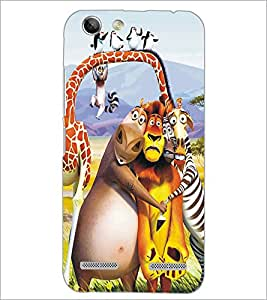 PrintDhaba Animated Animals D-5347 Back Case Cover for LENOVO VIBE K5 PLUS (Multi-Coloured)