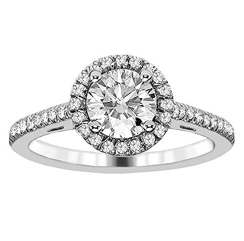 Pave Halo Engagement Rings
