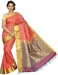 Evila Women's Raw Silk Saree (RSE-205, Multi)