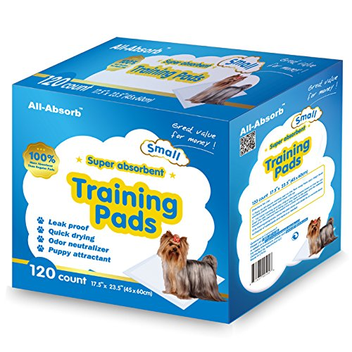 All-Absorb 120 Count Training Pad, 17.5 by 23.5-Inch, White and Blue (Puppy Pad Training compare prices)