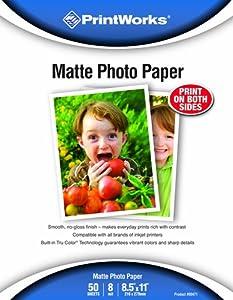Printworks Matte 8-1/2 x 11-Inch Photo Paper 50 Sheets (00471)