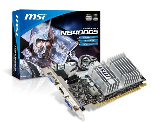 MSI nVidia GeForce 8400GS 512 MB DDR3 VGA/DVI/HDMI Low Profile PCI-Express Video Card N8400GS-MD512H
