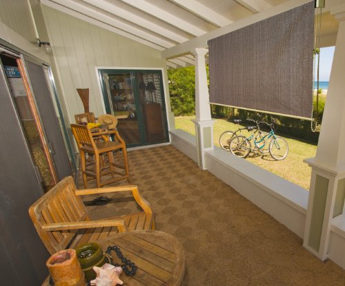 Solar shade blind exterior rollup window porch patio - Exterior sun blocking window shades ...