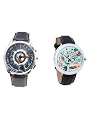 Foster's Men's Grey Dial & Foster's Women's Multicolour Dial Analog Watch Combo_ADCOMB0002321