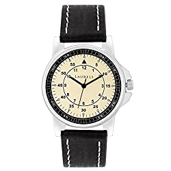 Laurels Vintage 1 Analog Ivory Dial Mens Watch ( Lo-Vin-102)