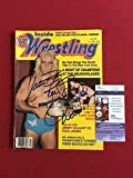 "1984, Ric Flair,""Autographed"" ()""Inside Wrestling"" Magazine - JSA Certified - Autographed Wrestling Miscellaneous Items"