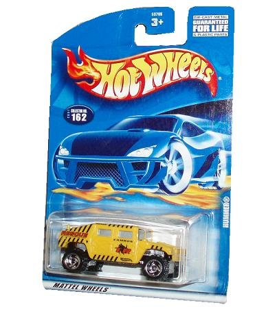 Hot Wheels 2001 Series 1:64 Scale Die Cast Metal Car # 162 - Yellow Camron Rescue Special Unit Sport Utility Vehicle SUV Hummer - 1