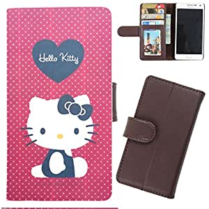 DooDa - For LG L90 PU Leather Designer Fashionable Fancy Wallet Flip Case Cover Pouch With Card, ID & Cash Slots And Smooth Inner Velvet With Strong Magnetic Lock