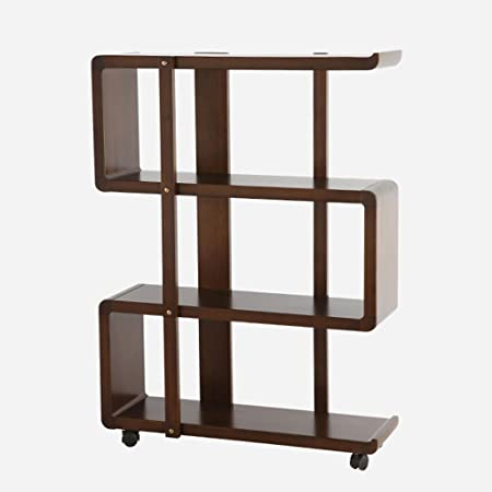 TH Household It Move Move Bookshelf Landing Shelf Soggiorno Libreria in legno massello Libreria tipo pavimento ( dimensioni : 4-tier )