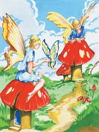 Royal & Langnickel Painting by Numbers Junior Small Art Activity Kit, Flower Fairies