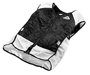 TechKewl Hybrid Cooling Vest, Black, X-Small