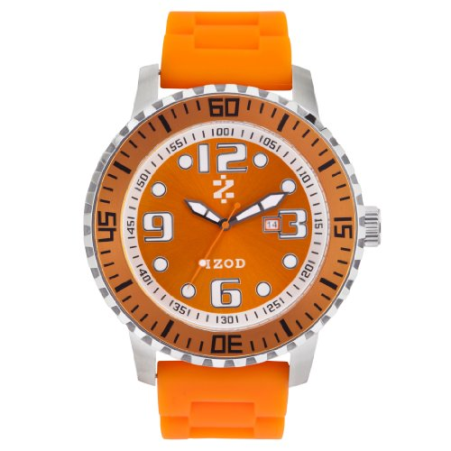 IZOD Men's IZS4/7 ORANGE Sport Quartz 3 Hand Watch