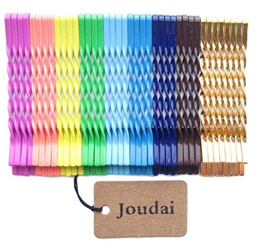 (ジョーダイ) Joudai カラフルアメリカピンとゴールドアメリカピン40本セットヘアアクセサリー ヘアクリップ 大人 髪飾り 髪留め SA-296