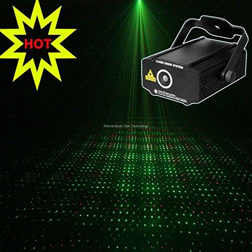 New 2014 Mini Red Green Gobo Full Stars Projector Dj Lighting Light Dance Disco Bar Birthday Wedding Party Xmas Effect Stage Lights Show B19
