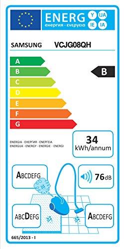 Samsung-VC08QHNJGBBEG-Bodenstaubsauger-mit-Beutel-EEK-b