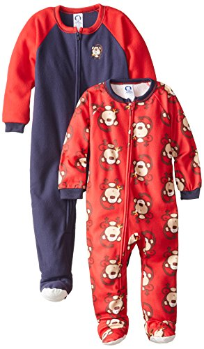 Gerber Little Boys' 2 Pack Boy Blanket Sleeper, Monkey, 3T front-257706