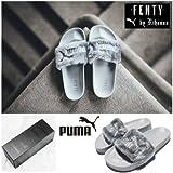 PUMA X リアーナコラボ FENTY PUMA by Rihanna セレブ仕様 ファーベナッシ サンダル グレー (24cm (EUR 38))
