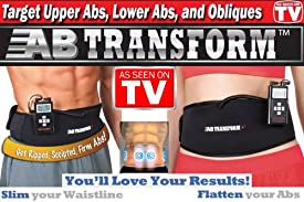 Ab Transformer Plus+ Belt Ab Toning Fitness - As Seen on TV & Hollywood Limited Edition for Men & Women