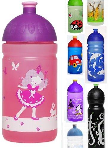 ISYbeTrinkflasche-500ml-Prinzessin-rosa-transparent-schadstofffrei-splmaschinengeeignet-auslaufsicher