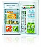 Midea HS-120L Compact Single Reversible Door Refrigerator with Freezer, 3.3 Cubic Feet, White