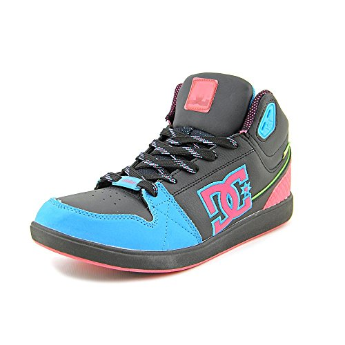 DC Women's University Mid Sneaker, Black/Goji, 10 M US
