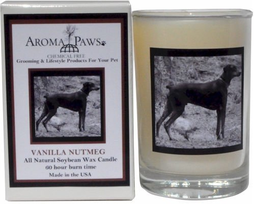 Aroma Paws 341 Breed Candle 5 Oz. Glass-Gift Box - Doberman Pinscher