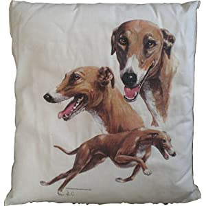 Greyhound cushion now available from Amazon