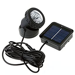 Metro Shop Waterproof Solar Powered LED Spotlight Spot Light Lamp Garden Pool Pond Outdoor