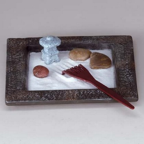 gifts decor miniature table top zen rock garden mini. Black Bedroom Furniture Sets. Home Design Ideas