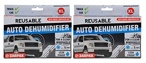 Zarpax LV-A300-US Dark Grey Reusable Car Auto Truck Van SUV and RV Dehumidifier with Smart Indicator (2 pack) (Auto Microwave compare prices)