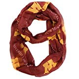 NCAA Minnesota Golden Gophers Sheer Infinity Scarf, One Size, Red