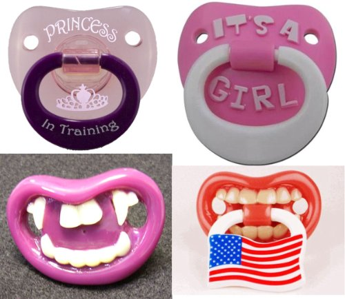 """""""Dollar Days"""" Original Billy Bob Teeth Girls Baby'S Pacifiers 10 For $10 (Assorted) front-761907"""