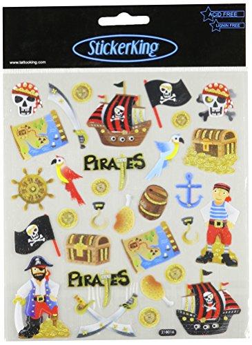 Multi-Colored Stickers-Pirates Glitter