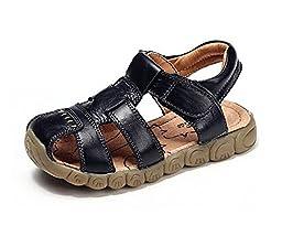 Baby Boy Fisherman Leather Closed-Toe Sandal Beach Flat Shoes (Toddler/Little Kid/Big Kid)