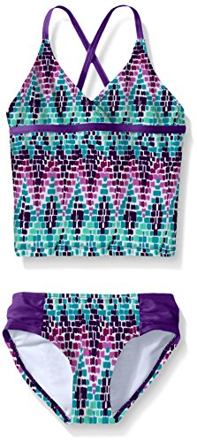 Kanu Surf Little Girls Candy Tankini Swimsuit, Purple, 4