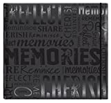 "MBI by MCS Embossed Gloss Expressions Top Load Scrapbook, Black, Embossed ""Memories"" (848121)"