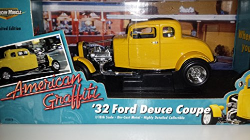 #32078 Ertl American Graffiti '32 Ford Deuce Coupe 1/18 Scale Diecast (American Graffiti Diecast Cars compare prices)