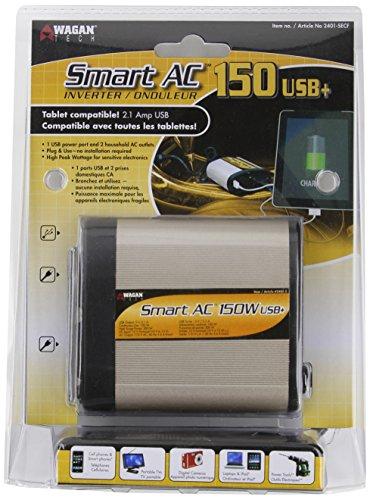 Wagan El2401-5 150W Smartac Usb+ Inverter With 5V 2.1A Usb