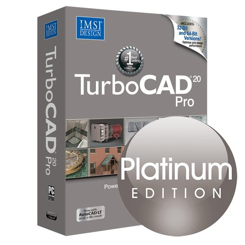 Turbocad Pro 20 Platinum Edition - Professional 2D & 3D Cad Design Software