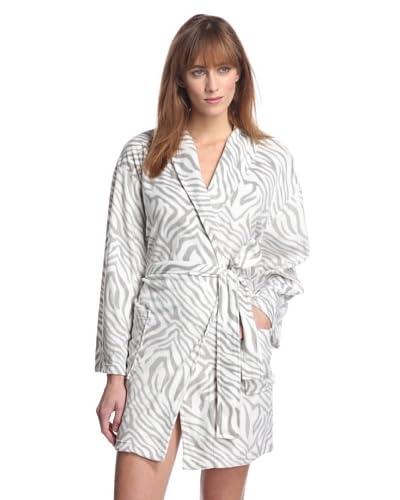 Aegean Apparel Women's Zebra Minky Robe