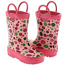 Pluie Pluie Little Girls Pink Candy Dot Rain Boots 12