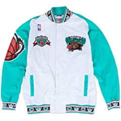 Vancouver Grizzies Mitchell & Ness Authentic 95-96 Warmup Premium Jacket - White by Mitchell & Ness