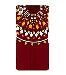 Mandela Indian Rangoli 3D Hard Polycarbonate Designer Back Case Cover for Sony Xperia Z3 :: Sony Xperia Z3 D6653 D6603