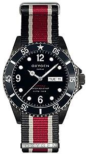 OXYGEN Moby Dick Black 40 unisex quartz Watch with black Dial analogue Display and multicolour nylon Strap EX-D-MBB-40-NN-BLIVRE