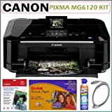 Canon MG6120 PIXMA MG6120 Wi-Fi Inkjet Photo All-In-One Printer Scanner Coppier + Printer Accessory Kit