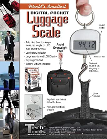 World's Small Digital Luggage Scale
